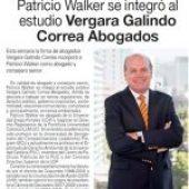 Patricio Walker se integra a VGC Abogados