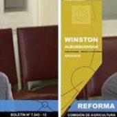 Winston Alburquenque expone en el Senado